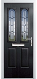 grp composite door - Black diamond range - fiennes style
