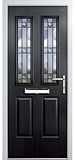 grp composite door - Black diamond range - livingstone style