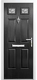 grp composite door - Black diamond range - maglas style