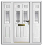 Maglas 4 style grp door with side screens