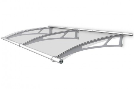 Extendable Canopy 1420 Stainless Steel Clear Clearance