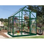 Harmony Clear Glazing Greenhouse Green 6x4