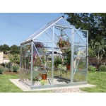 Harmony Clear Glazing Greenhouse Silver 6x4