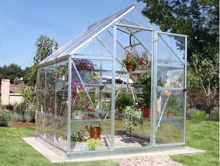 Harmony Clear Glazing Greenhouse Silver 6x6