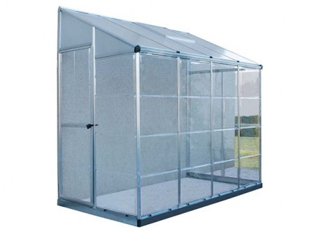 LEAN TO GROW HOUSE 8X4 - SILVER HYBRID