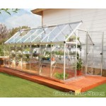 Harmony Clear Glazing Greenhouse Silver 6x14