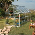 Harmony Clear Glazing Greenhouse Silver 6x10