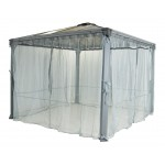 GAZEBO MARTINIQUE 4300 NETTING SET GREY