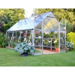 Balance Merged Glazing Greenhouse Silver 8x12