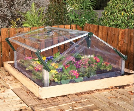 Cold Frame Double Greenhouse 3x3 Silver