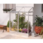 Lean To Greenhouse 4x2 Silver-Clear