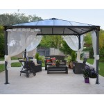 Palermo 3600 Gazebo  Grey
