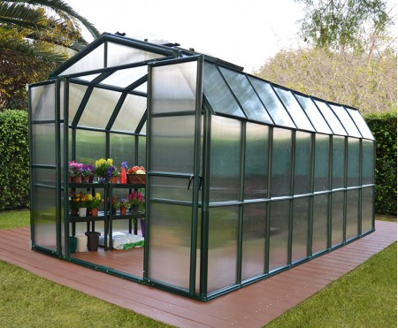 Rion Grand Greenhouse 8x16 Green Clear