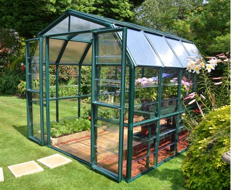 RIon Grand Greenhouse 8x8 Green Clear