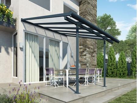 SIERRA PATIO COVER X GREY CLEAR Classic PVC Home - Pvc patio cover