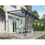 SIERRA PATIO COVER 2.3X2.3 GREY CLEAR