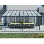 Sierra patio cover 3m x 6m Anthracite grey