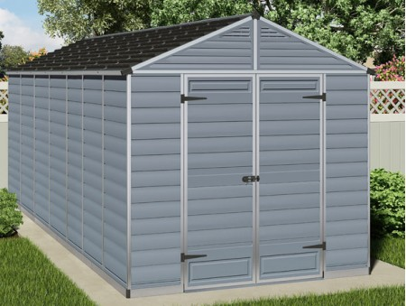 Skylight Shed 8x16 Grey