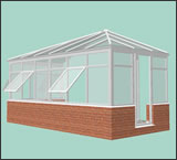 Double hip Lean-to Conservatory design from Classic UK
