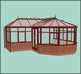 3D P-shaped Conservatory design from Classic UK