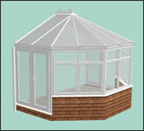 3D 3 Facet Victorian Design Conservatory from Classic UK