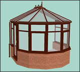 3D 5 Facet Victorian Design Conservatory from Classic UK