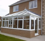 Double Hip Lean-to Conservatory