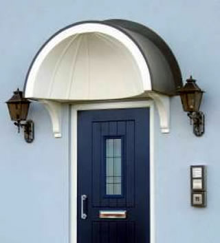 Balmoral shell arched lead effect pvc over door canopy. & Balmoral arched lead effect canopy pvc canopies upvc door canopy ...
