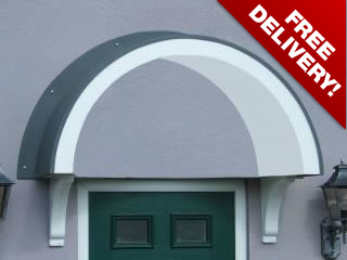 Balmoral style over door traditional pvc canopy : pvc door canopy - memphite.com