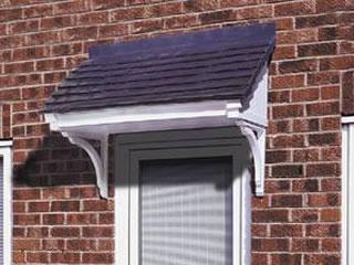 Berkley tile effect roof canopy, pvc canopies, upvc door