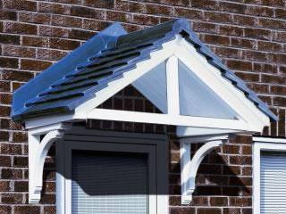 Cheltenham Dual Pitch Tile Effect Overdoor Canopy Pvc