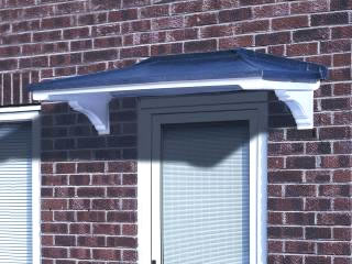 Ilkley lead effect overdoor traditional GRP canopy. : over door canopy pvc - memphite.com