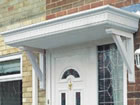 Castledene over door canopy from Classic UK PVC Home Improvements, Llanelli, Swansea, Wales, UK