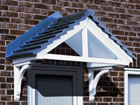 Cheltenham over door canopy from Classic UK PVC Home Improvements, Llanelli, Swansea, Wales, UK