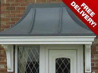 Balmoral style over door traditional pvc canopy