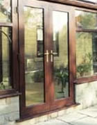 Open out french doors