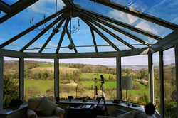 energy efficient window system in a conservatory