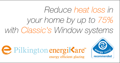 Reduce heat loss in your home with energy efficient windows from Classic Home Improvements
